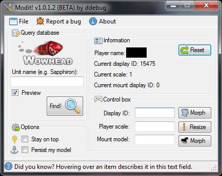 Modit! для WoW теперь работает на патче 4.0.1а. Общие (ЧИТЫ+БОТЫ). Прос..