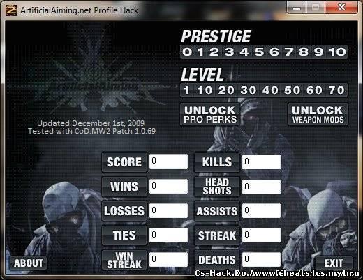 Программы. Скачать ArtificialAiming Profile Hack - CoD:MW2 (зеркало).